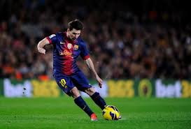 Pay attention to which part of the ball Messi strikes